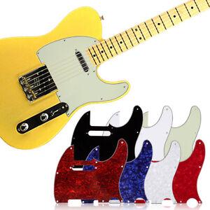 3 Ply Tele Style Guitar Pick Guard Scratch Plate Fits Telecaster Gitarre Neu