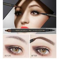 Women Waterproof Natural Liquid Eyeliner Eye Brow Eyebrow Pencil Brush Makeup