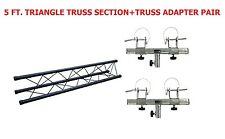 Triangle Truss Extension 5ft Section Lighting DJ Black Metal+ Truss Adapter Pair