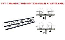 Triangle Truss Extension 5ft Section Lighting DJ Black Metal+ Truss Adapter Pair