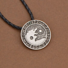 Gotisch Nordisch Viking Wolf Anhänger Halskette für Herren Schmuck Geschenk Neu