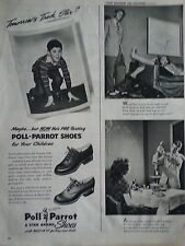 1946 Poll Parrot Star Brand Childrens Shoes Little Boy Original Print Ad