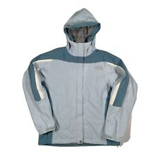 The North Face Hyvent Hooded Jacket Blue Ladies Medium M Walking Coat VGC