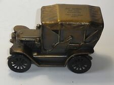 VINTAGE 1910 STANLEY STEAMER CAR COIN BANK MADE BY BANTHRICO FOR BELL SAVINGS