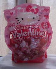 Hello Kitty Classroom Valentine Card Hearts with Candy 22 Filled Heart Container