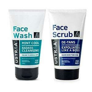 Face Wash And Ustraa Scrub De-tan For Men 100g, (Pack Of 2)