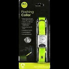 REFLECTIVE FLASHING SAFETY COLLAR PERMANENT CLIP COLLAR WITH D RING