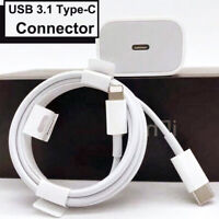 18W Charger w/ PD USB-C to 8 Pin Cable Fast Cord For iPhone 12/11 Pro Max