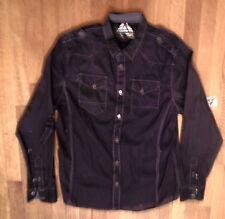 NWT MASSIVE Black 100% Cotton, Military Style, 2 Pocket, Size Large Shirt (140)