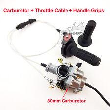 PZ30 30mm Carburetor Gas Throttle Hand Grips Cable For Dirt Bike IRBIS TTR 250cc