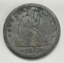 1855-S San Francisco Mint Silver Seated Liberty Quarter With Arrows KEY DATE