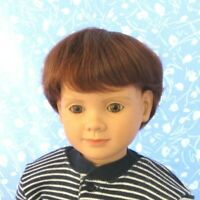 """BOB"" Auburn Doll Wig Full Cap Size 10, Boy or Girl, Baby Toddler, Etc"