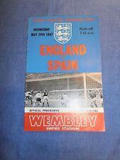 England vs Spain friendly 1967 International football programmes