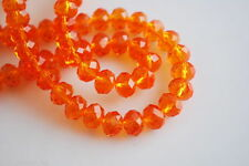 Bulk Exquisite Crystal Glass Faceted Rondelle Loose Beads Findings 3/ 4/ 6 / 8mm