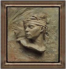 Richard MacDonald Bronze Relief Sculpture Signed Nureyev Bust Fragment Ballet
