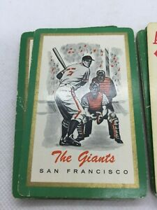 Vintage 1960's San Francisco Giants Brown & Bigelow Playing Cards