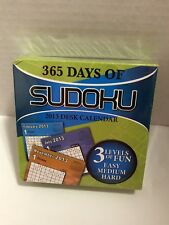 365 Days of Sudoku 2013 Desk Calendar- 3 Levels of Fun
