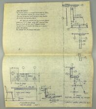 "14""x11"" 1962 Vintage Blueprint Architectural Rendering MID-CENTURY Holiday Inn I"