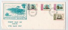 1967  Norfolk Island Ships  Set Of 4 on long   First Day Cover