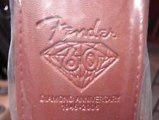 "2 Fender GUITAR STRAPS 60th Anniv Mdl. 2.5"" Wide. -BROWN & Black & 25 FREE PICKS"