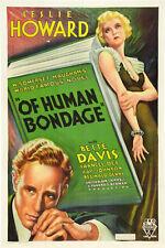 Of Human Bondage (1934) Bette Davis, Leslie Howard Drama Romance  DVD