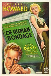 Of Human Bondage 1934 Bette Davis, Leslie Howard Drama Romance  DVD