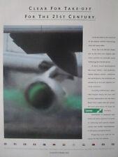 5/1992 lucas pub aerospace jet engine control FADEC electronics original ad