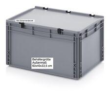Stapel Behälter mit Scharnierdeckel 60x40x33 5 Cm Tragebox Tragekisten
