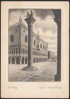 AA3710 Venezia - Palazzo Ducale - Illustratore Bellini - Cartolina postale