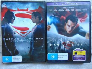 Batman V Superman: Dawn Of Justice & Man Of Steel - Region 4 - 2 DVD - FREE POST