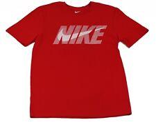 Nike Men's Cotton Swoosh Logo Graphic T-Shirt Red   Large