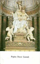 531 Regina Decor Carmeli -Maria-Madonna  Santino holycard  7,3 x11,6