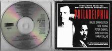 Highlights From Movie Philadelphia Promo CD Sampler Bruce Springsteen Gabriel CD