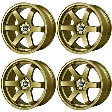 4 x Bola B1 Gold Alloy Wheels - 5x100 | 18x8.5 | ET45