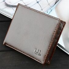 Men Black Leather Wallet Pocket Coin Card Money Holder Clutch Bifold Slim Purse
