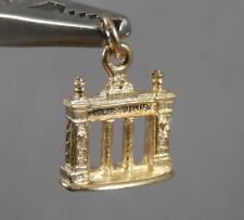 Vintage 10 Karat Yellow Gold Lindenwood College Columns Pendant Charm 10K J0708