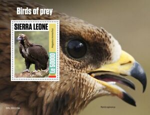 Sierra Leone Birds of Prey on Stamps 2020 MNH Vultures Honey Buzzards 1v S/S