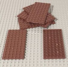 Lego X6 New Reddish Brown 6x12 Plate / Building Plates Pieces / Parts Bulk Lot