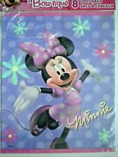 """PACKAGE OF 8 DISNEY MINNIE MOUSE BIRTHDAY PARTY LOOT/TREAT BAGS ~ 7.25"""" x 9"""""""