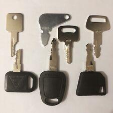 7 keys Bobcat heavy equipment/construction ignition key set