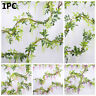 Garland Wisteria Plant Artificial Flowers Fake Ivy Vine Foliage Trailing Flower