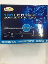 180 Luminarie LED Blu con Controller 8 Giochi Luci Esterno