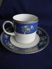 WEDGWOOD BLUE SIAM COFFEE CAN AND SAUCER IN VGC