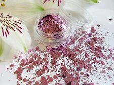 Nail Art Chunky *Princess* Pink Lilac Haze Hexagon Spangle Glitter Dust Mix Pot