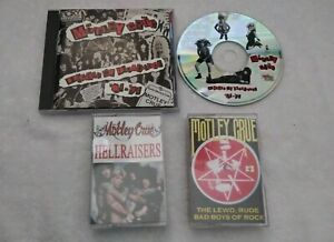 MOTLE CRUE CD + CASSETTE LOT : DECADE OF DECADENCE/HELLRAISERS/THE LEWD,RUDE,BAD