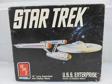AMT ERTL STAR TREK USS ENTERPRISE Plastic Model Kit 6676 UNBUILT 1989