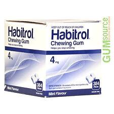 Habitrol 4mg Bulk MINT  1 box 384 pieces Nicotine Quit Smoking Gum