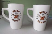 Two Multi RARE Vintage Shenango China Cups Brief Eater Mug Cup  Restaurant Ware