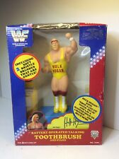 WWF Hulk Hogan Battery Operated Talking Toothbrush And Stand Unopened READ!
