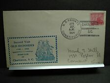 USS CONSTITUTION Naval Cover 1934 CHARLESTON, SC Cachet OLD IRONSIDES